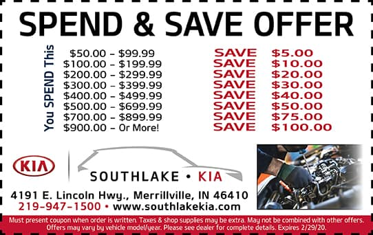 Spend & Save Offer
