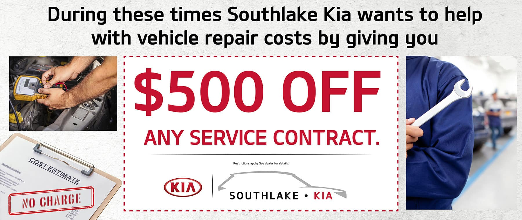Southlake Kia wants to help with vehicle repair costs