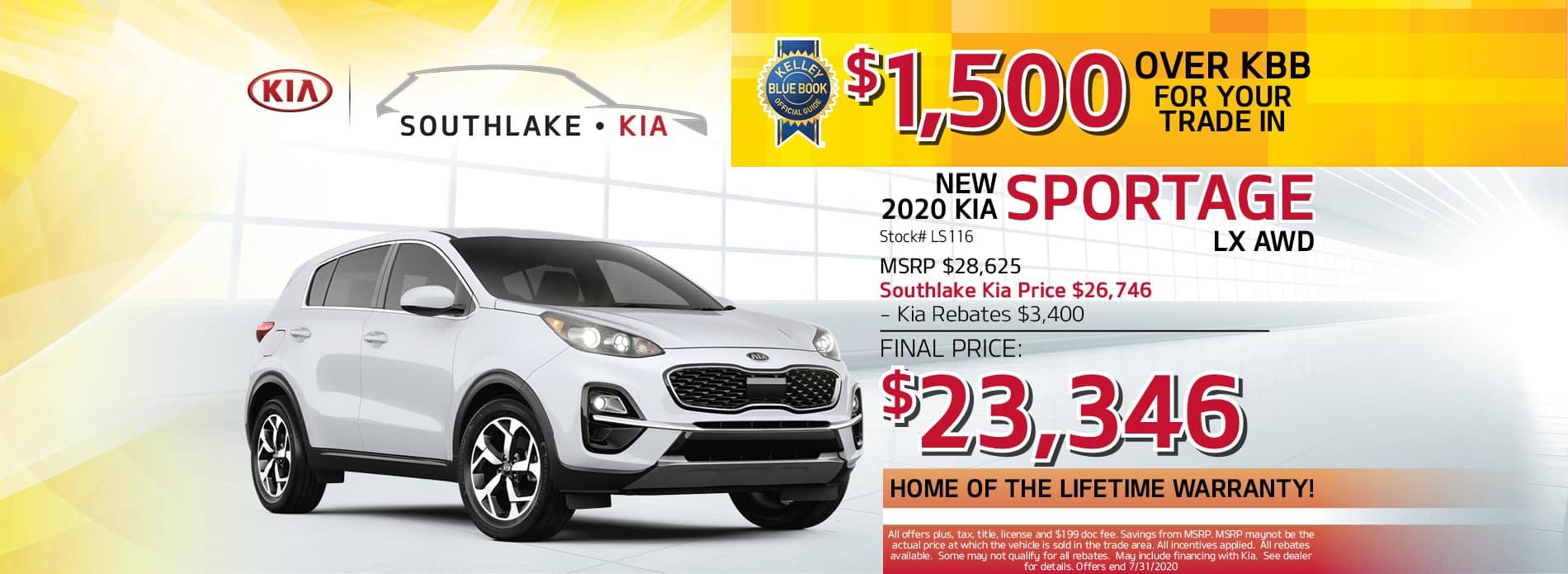 2020 Kia Sportage LX Lease Offer | Southlake Kia