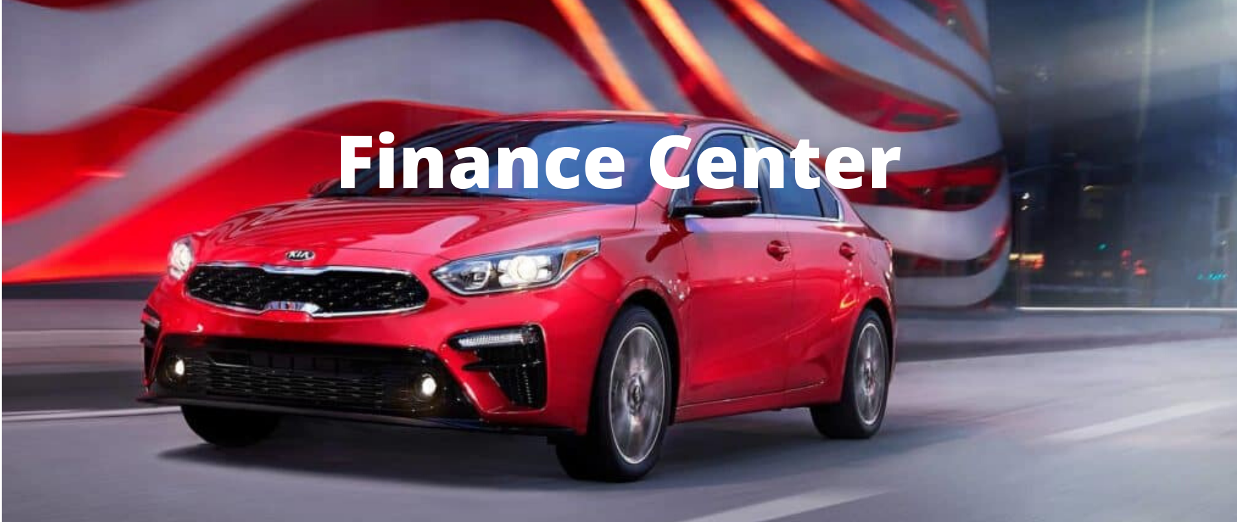 Red Kia Forte Finance