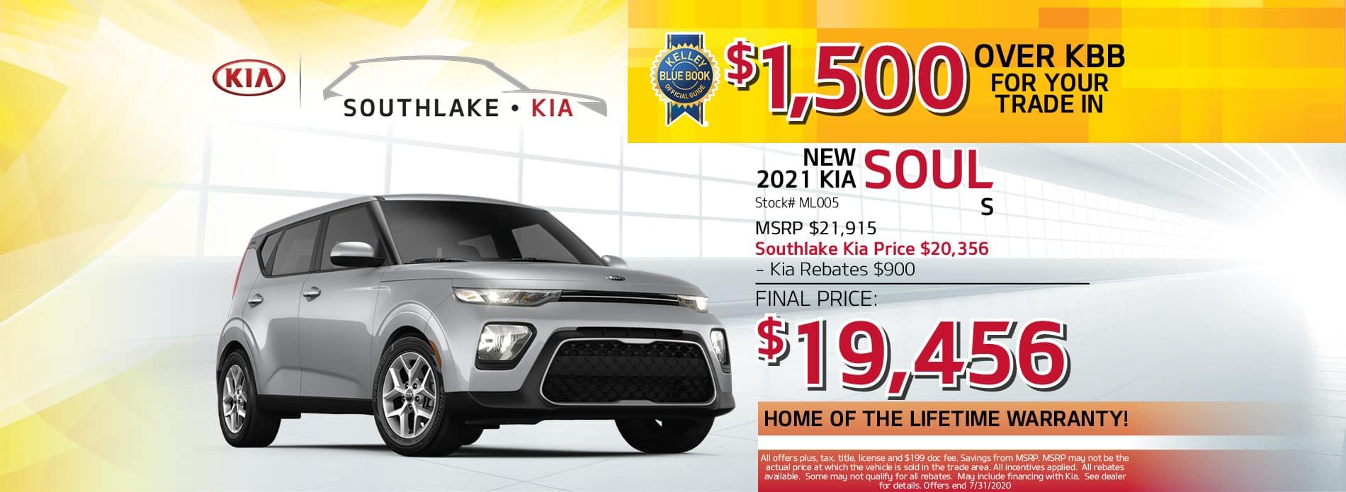 2020 Kia Soul Lease Offer | Southlake Kia