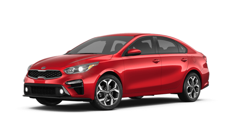 2020 Kia Forte LXS in red
