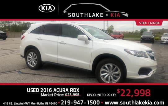 Used 2016 Acura RDX special   Southlake Kia