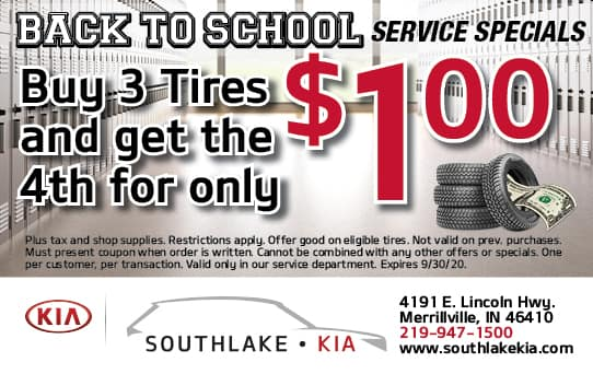 Buy 3 Tires and get the 4th for a $1