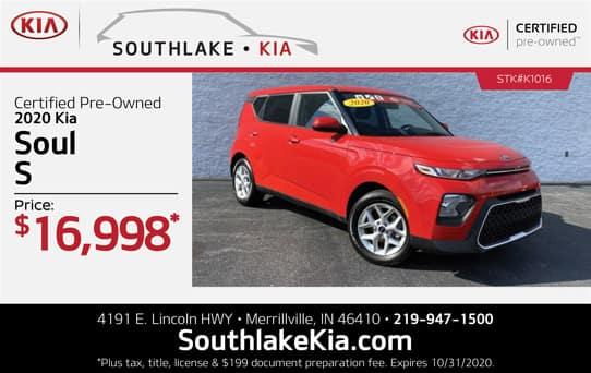 Certified 2020 Kia Soul special   Southlake Kia