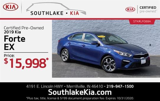 Certified 2019 Kia Forte special   Southlake Kia