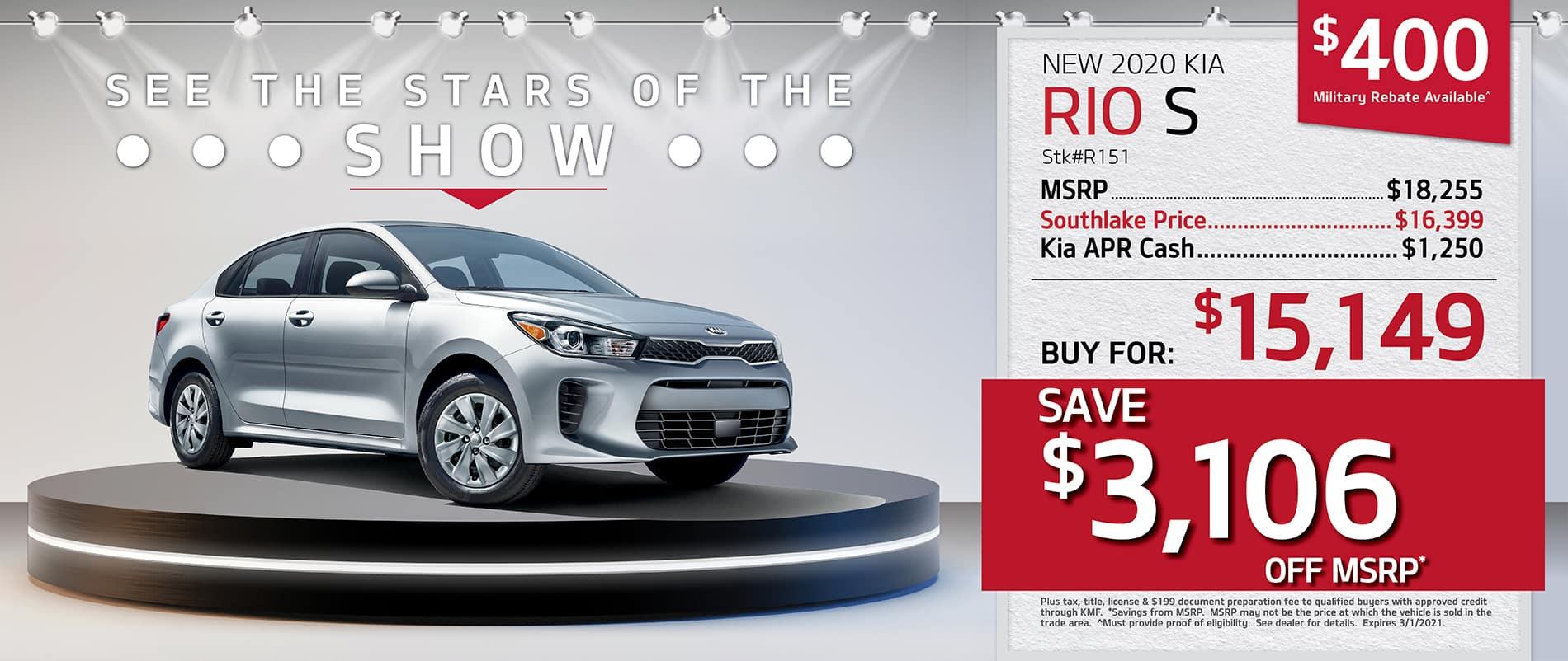 2020 Kia Rio Finance Offer | Merrillville, Indiana