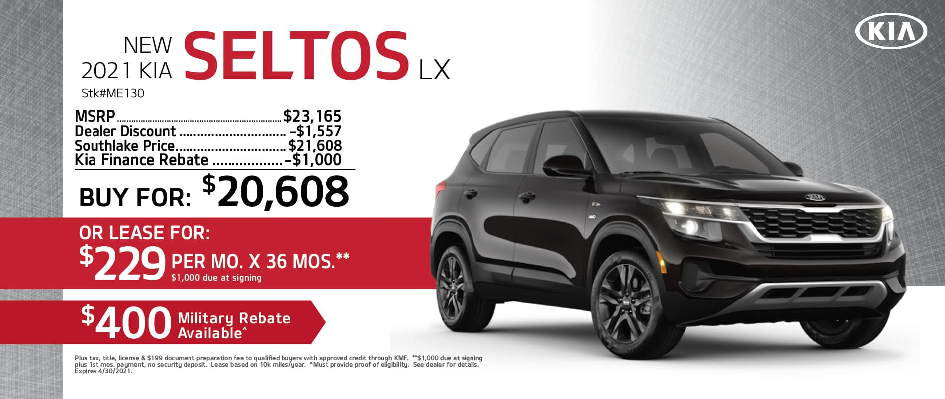 2021 Kia Seltos Buy or Lease Offer | Merrillville, Indiana