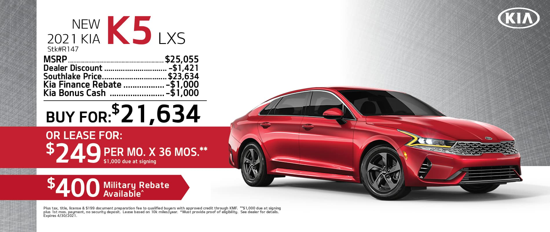 2021 Kia K5 Buy or Lease Offer | Merrillville, Indiana