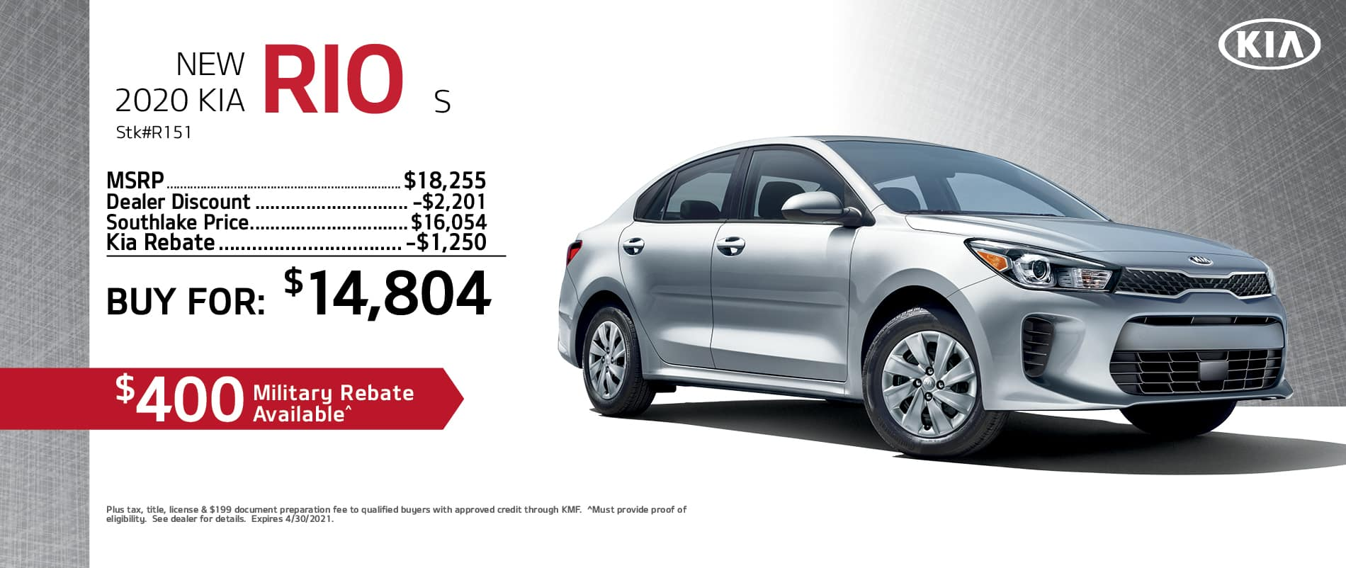 2020 Kia Rio Finance Offer | Merrillville, Indiana