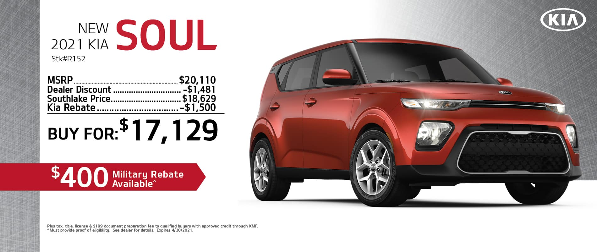 2021 Kia Soul Buy Or Lease Offer | Merrillville, Indiana