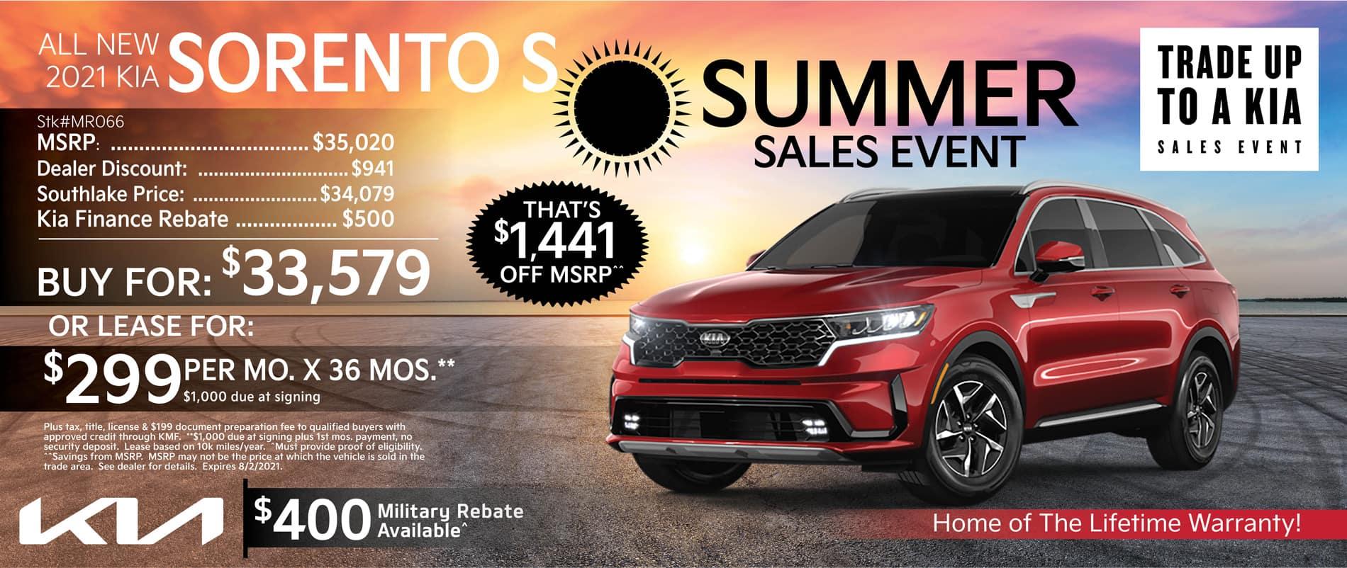 2021 Kia Sorento Special Offer | Merrillville, Indiana