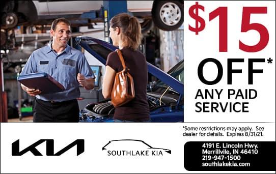 $15 Off Any Paid Service | Southlake Kia
