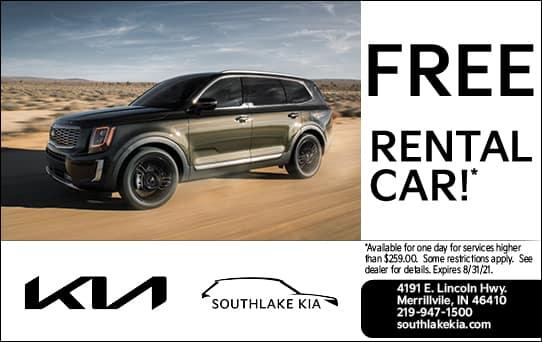 Free Car Rental | Southlake Kia