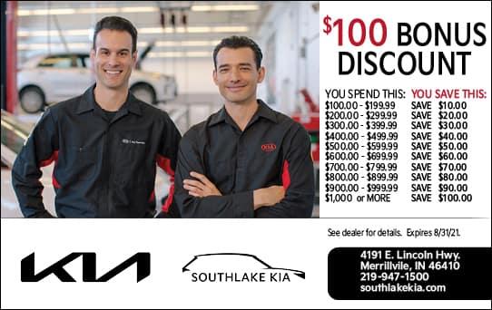 Bonus Discount | Southlake Kia
