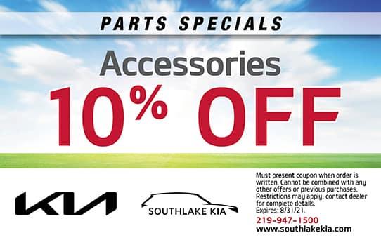 10% Off Accessories   Southlake Kia