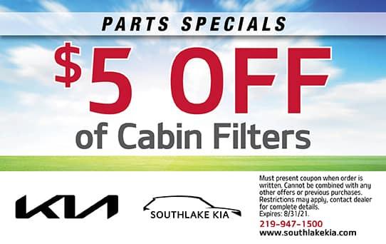 $5 Off Cabin Filters   Southlake Kia