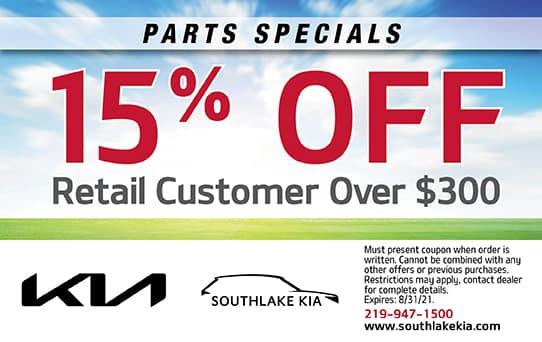 15% off $300   Southlake Kia