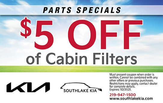 $5 Off Cabin Filters | Southlake Kia