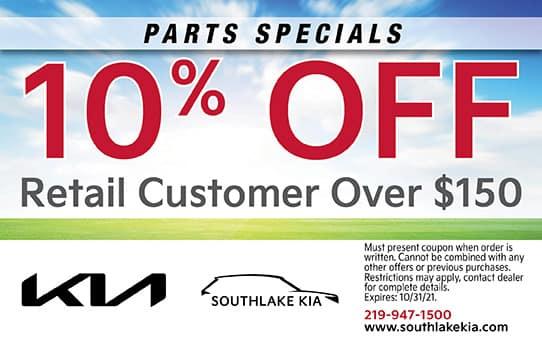10% Off Accessories | Southlake Kia
