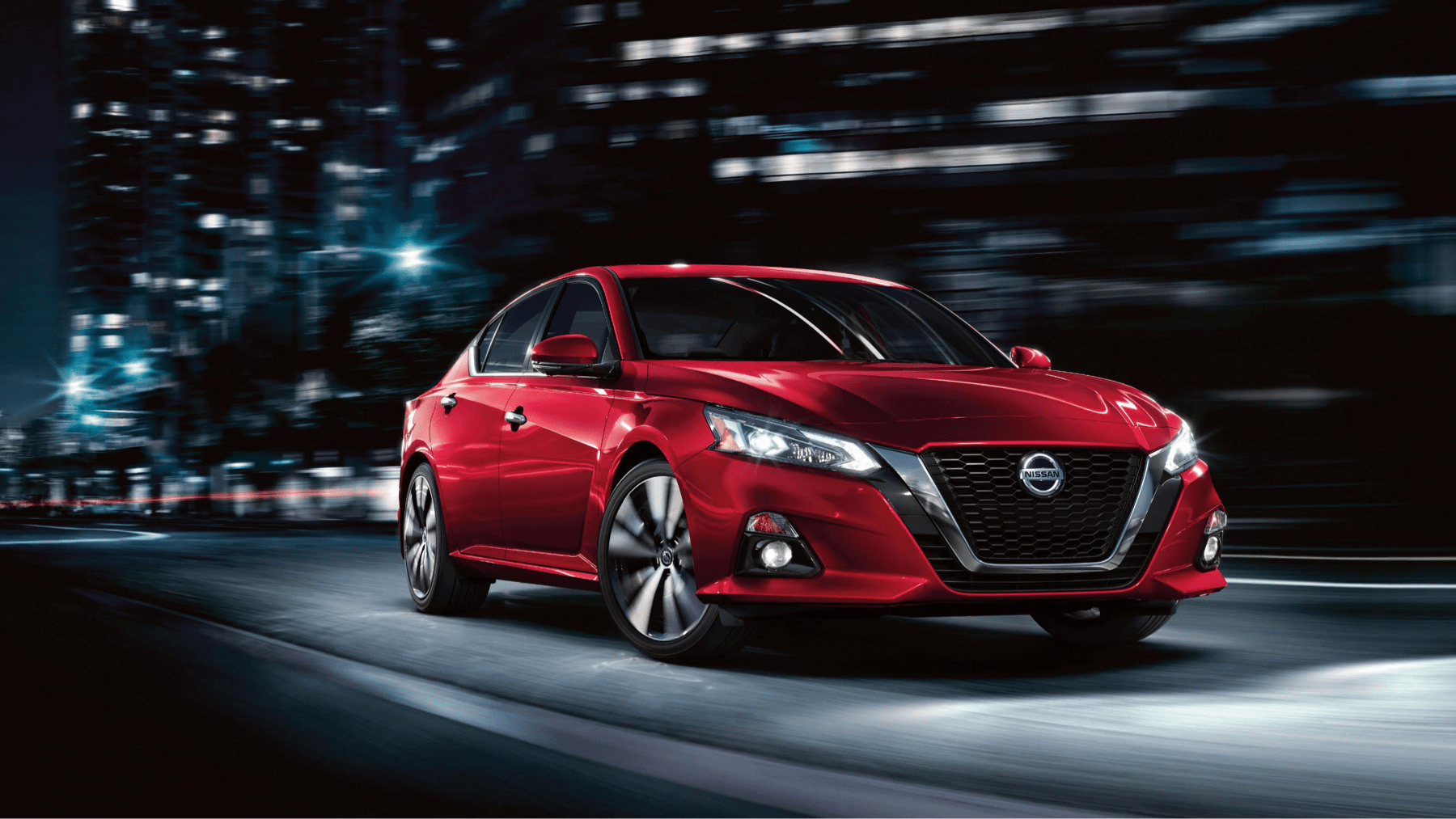 2021 Nissan Altima in red