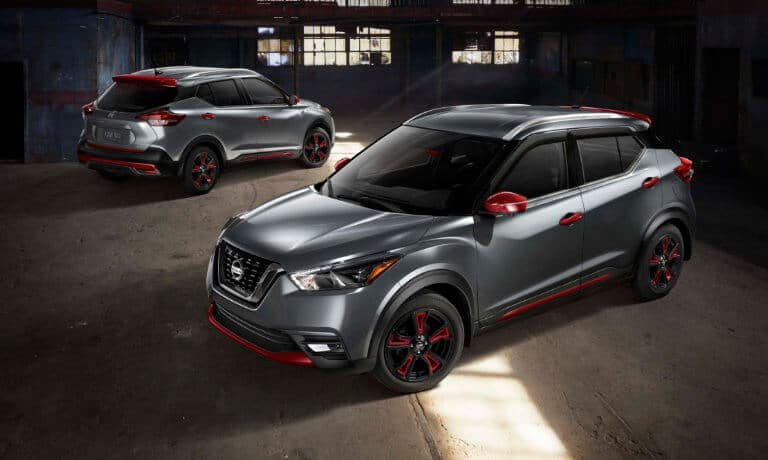 2020 Nissan Kicks Exterior 2 parked in a old Factory