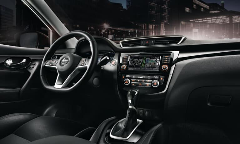 2020 Nissan Rogue Sport front dash view from the passanger side