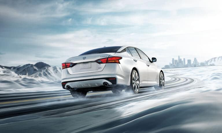 2020 Nissan Altima driving in snow