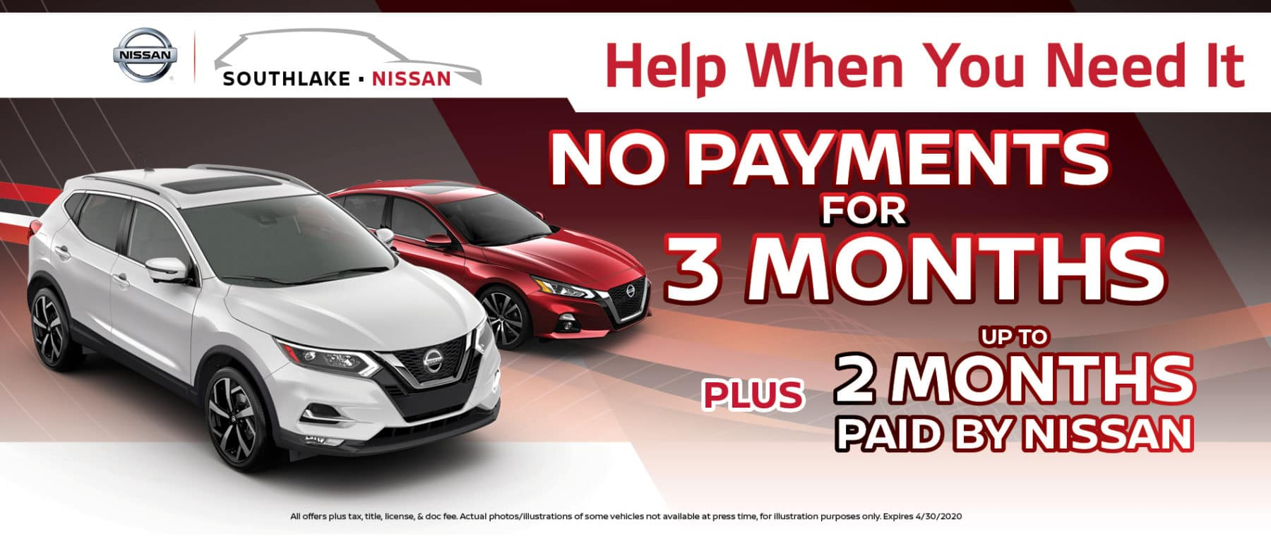 No Payments for 3 Months