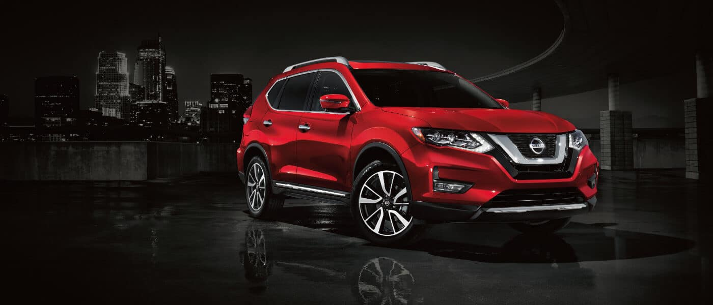 2020 Nissan Rogue in red