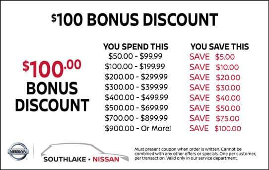 $100 Bonus Discount