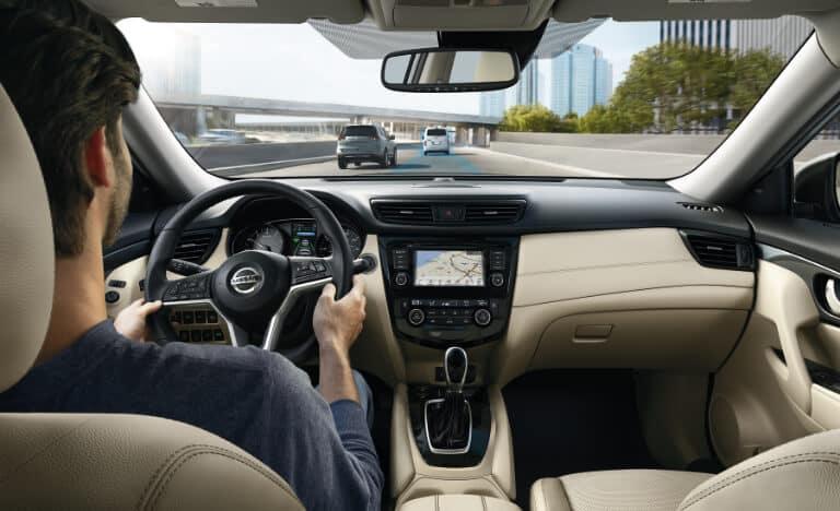 Interior of a 2020 Nissan Rogue