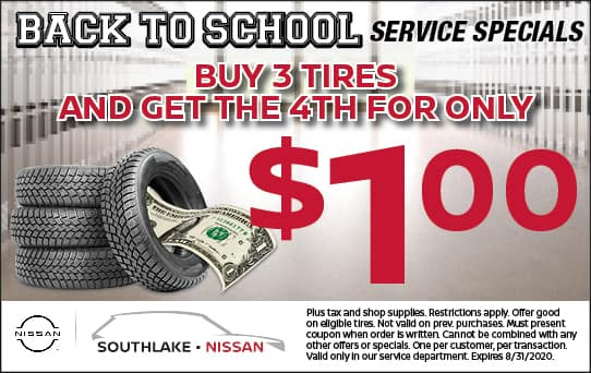 Buy 3 Tires Get the 4th for only $1