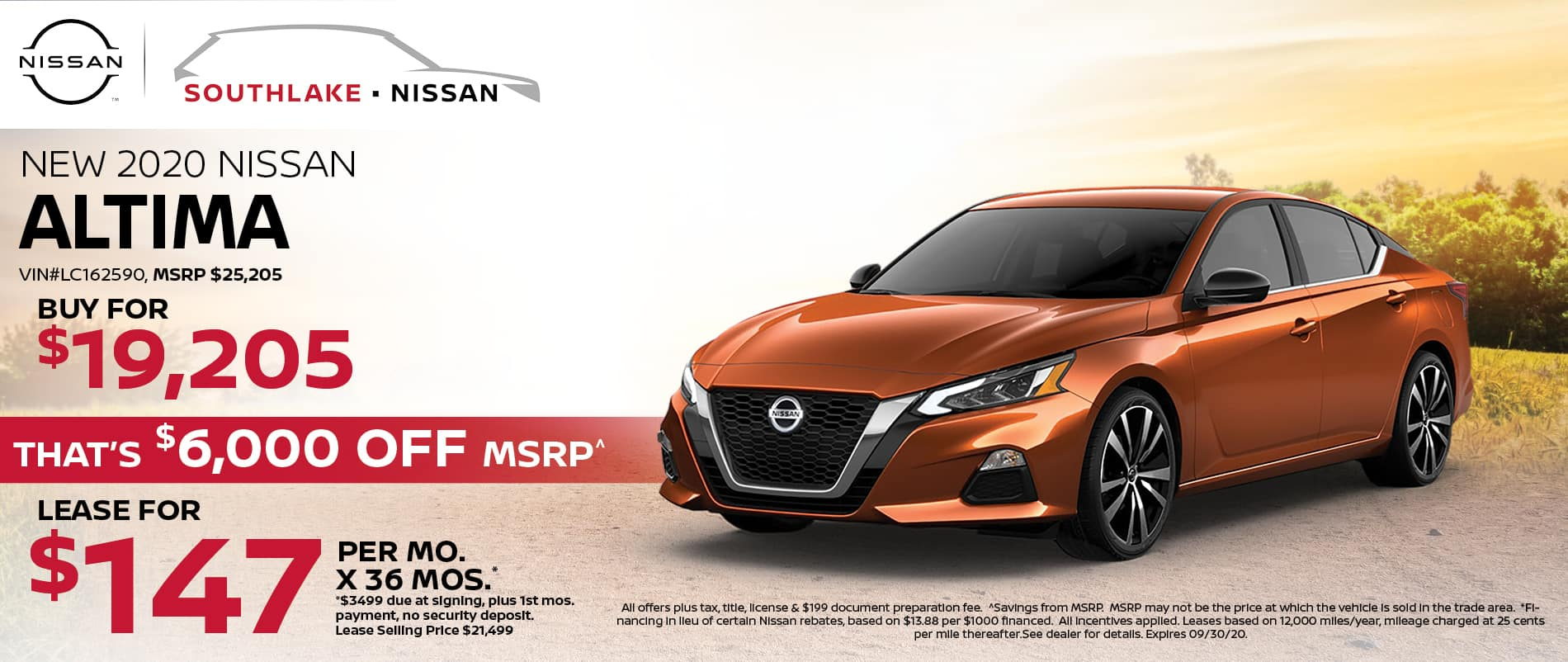 2020 Nissan Altima Finance or Lease Offer | Merriville, IN