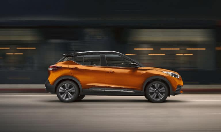 2020 Nissan Kicks orange exterior