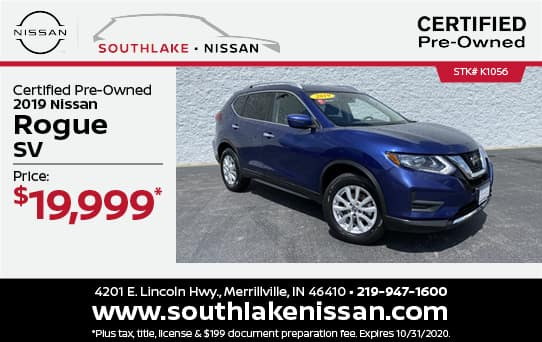 2019 Nissan Rogue Certified Pre-Owned Special| Southlake Nissan