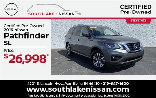 2019 Nissan Pathfinder Certified Pre-Owned Special| Southlake Nissan