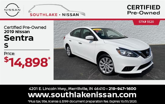 2019 Nissan Sentra Certified Pre-Owned Special| Southlake Nissan
