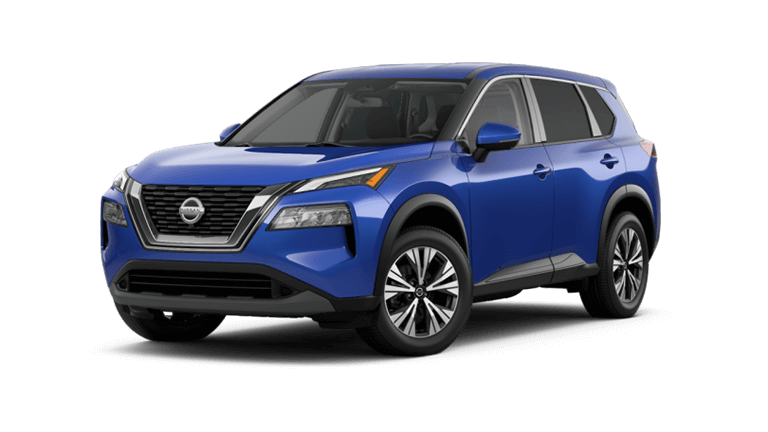 2021 Nissan Rogue SV in caspian blue