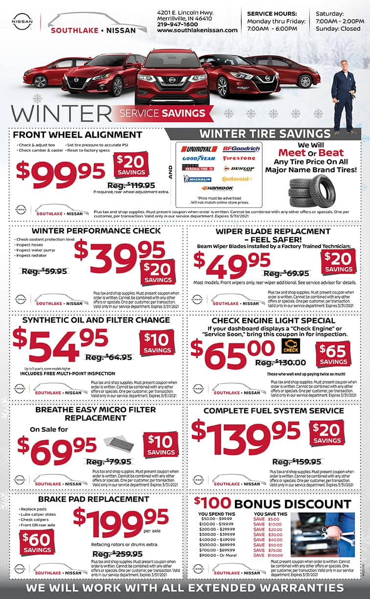 Southlake Nissan service specials