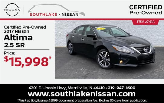 2017 Nissan Altima Certified Pre-Owned Special  Southlake Nissan