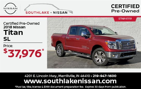 2018 Nissan Titan Certified Pre-Owned Special  Southlake Nissan