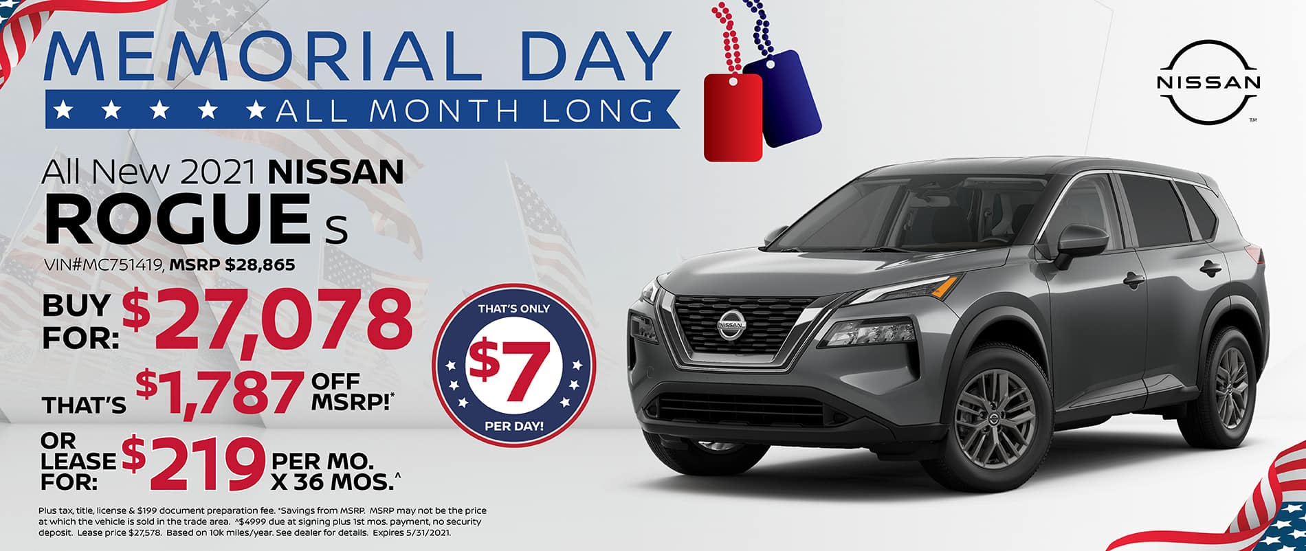 2021 Nissan Rogue Special Offer  Southlake Nissan
