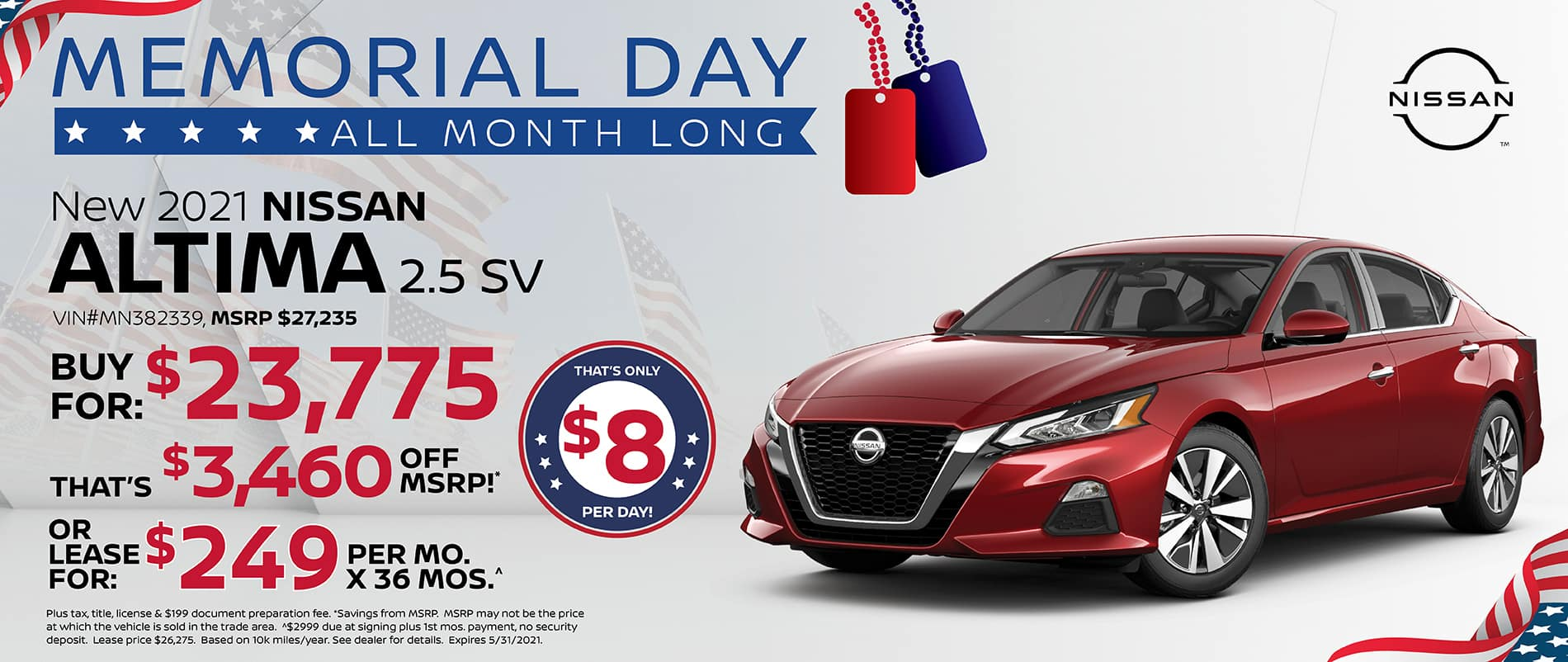 2021 Nissan Altima Special Offer   Southlake Nissan