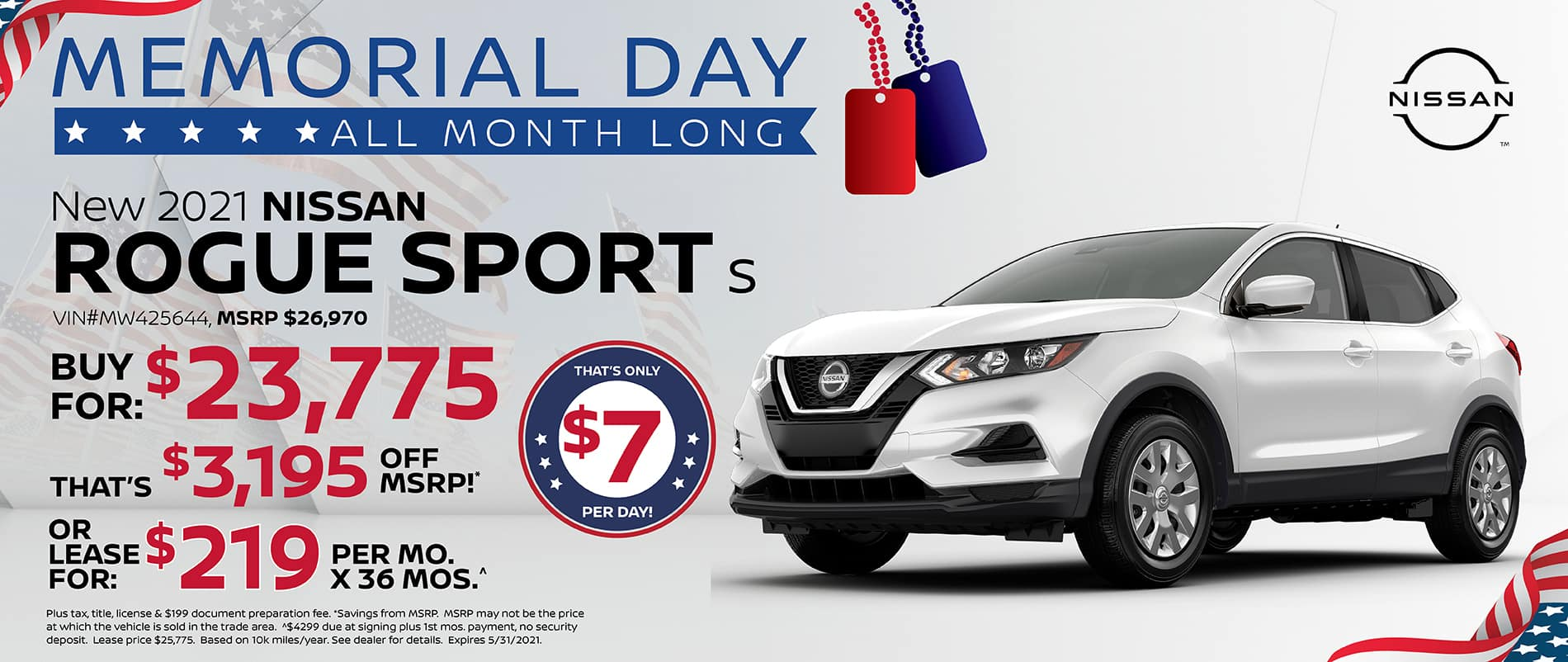 2021 Nissan Rogue Sport Special Offer   Southlake Nissan