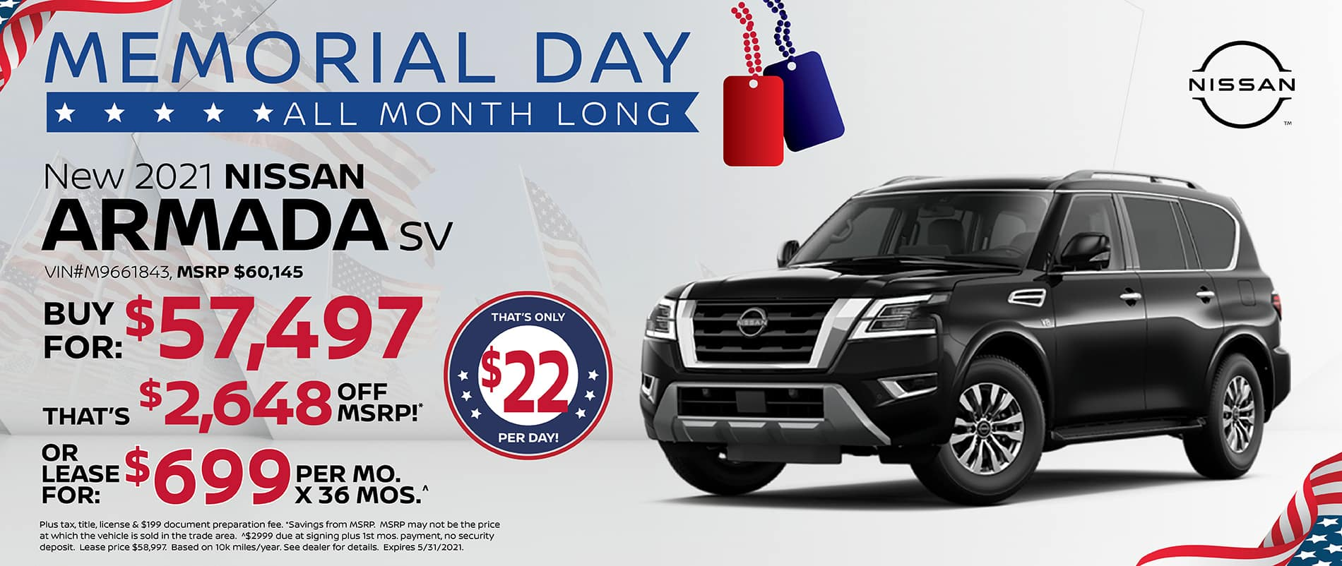 2021 Nissan Armada Special Offer   Southlake Nissan