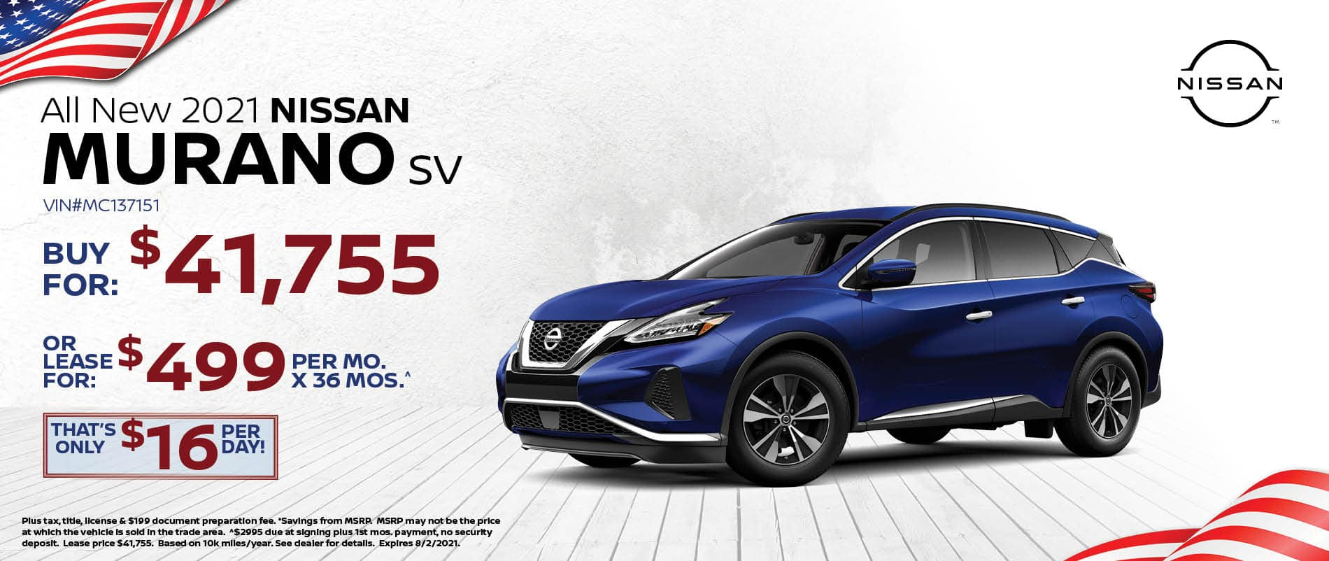 2021 Nissan Murano Special Offer   Southlake Nissan