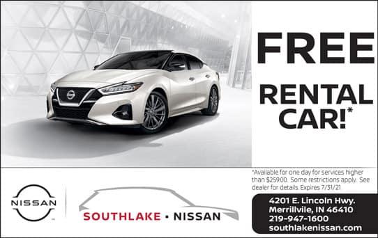 Free Rental Car   Southlake Nissan