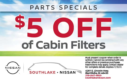 $5 Off Cabin Filters | Southlake Nissan