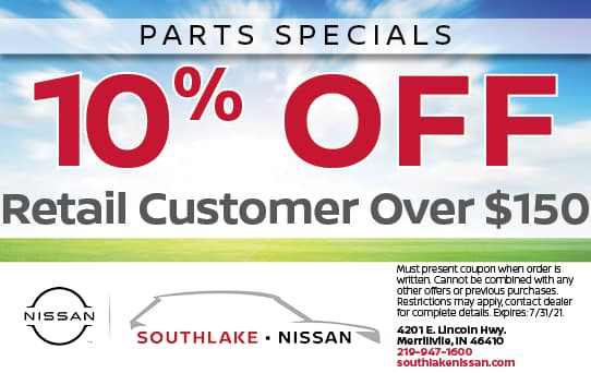 10% Off Accessories | Southlake Nissan